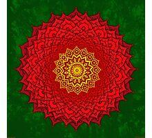 okshirahm rose mandala Photographic Print