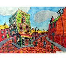 373 - JONES'S SHOP, RHOSLLANERCHRUGOG - DAVE EDWARDS - COLOURED PENCILS - 2012 Photographic Print