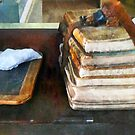 Teacher - Old School Books and Slate by Susan Savad