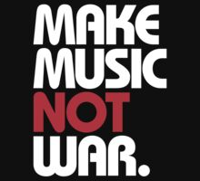 Make Music Not War (black/red) Kids Clothes
