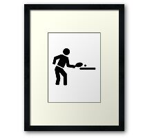 Ping pong player Framed Print