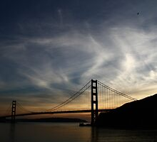Wispy-Cloud Set over the Bridge by fototaker