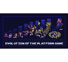 Evolution of the Platform Game Photographic Print