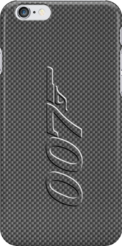 James Bond 007 iphone cased carbon fiber by ALIANATOR