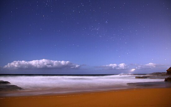 Turimetta night by Doug Cliff