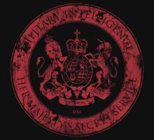 On her Majesty's secret service logo  - RED by bengrimshaw