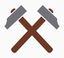 Crossed hammer tools by Designzz