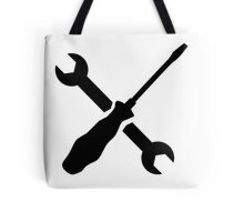 Crossed Screwdriver wrench Tote Bag