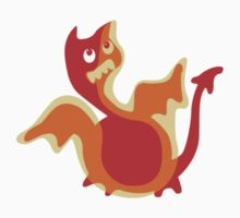 Cute Little Dragon, Cute Ugly T-Shirt or Sticker by Jane McDougall