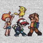 Pokemon Ash Brock Misty and Pikachu by pwnsomesteveyp