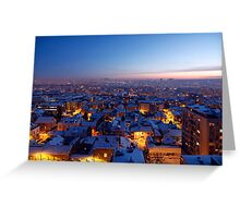 Baby It's Cold Outside - Belgrade Covered with Snow Greeting Card