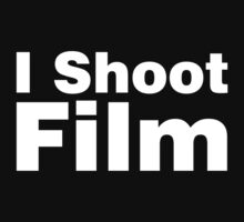 I Shoot Film (white) by Yiannis  Telemachou