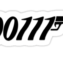 007 Binary 00111  Sticker