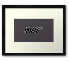 007 Binary 00111  Framed Print