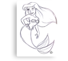 Ariel Sketch Canvas Print