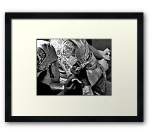 Photo Art with An Artist and his subject Framed Print