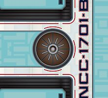 Star Trek - NCC-1701-B Hull iPad Case by Jon Kolton