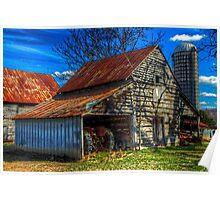 Barn Rural Farm Life Scene Poster, Print & Card Poster