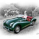Triumph TR-2 Sports Car in British Racing Green by davidkyte