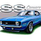 Camaro SS 1969 in Blue by davidkyte