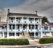 The DeRussy House at Fort Monroe by Darryl Krauch