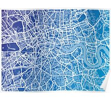 London England Street Map Art Poster