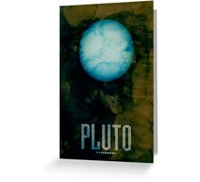 The Planet Pluto Greeting Card