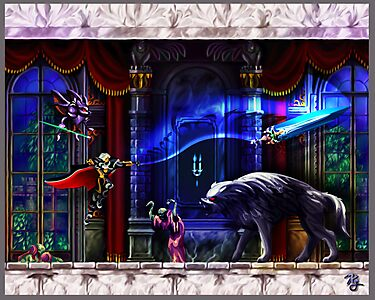 Castlevania Symphony of the Night by likelikes
