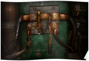 Steampunk - Electrical - Pull the switch  by Mike  Savad