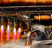 Steampunk - Train - The super express  by Mike  Savad