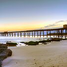 Sunrise at the Pier. by Julie  White