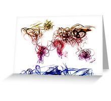 World Map Light Writing Greeting Card