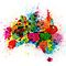 Australia Paint Splashes Map by ArtPrints