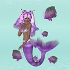 Lilac Mermaid .. iPad case by LoneAngel