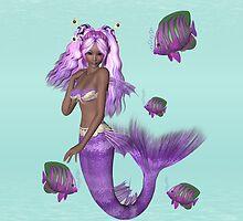 Lilac Mermaid .. iPad case by LoneAngel
