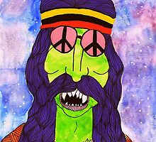 Herschel the zombie hippie by ClippityClopArt