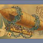 Vintage Bonne Anne Blimp Greetings by Yesteryears