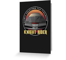 Knight Rider Logo KITT Car Greeting Card