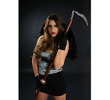 Grim reaper female DEATH carrying scythe Photographic Print
