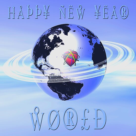 Happy New  Year World by Ann Morgan