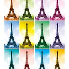 Eiffel Tower Pop Art by ArtPrints