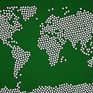 Football Soccer Balls World Map by ArtPrints