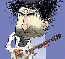 Caricature of Bob Dylan by drawgood