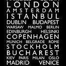 Europe Cities Bus Roll by ArtPrints