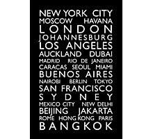 World Cities Bus Roll Photographic Print
