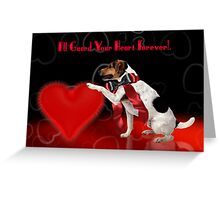 Cute Dog Valentine's Greeting Card - Jack Russell Terrier  Greeting Card