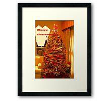 Magical elf tree Framed Print