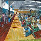 """The Machinists"", mural, Kurri Kurri, NSW, Australia by Margaret  Hyde"