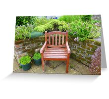 A Seat In The Herb Garden Greeting Card