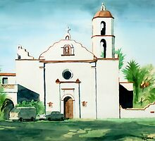 Mission San Luis Rey Colorful by KipDeVore